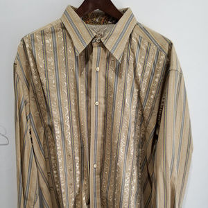 Robert Graham Shirt - Stripes with Embroidery